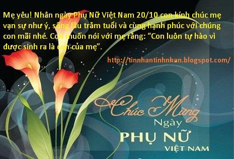 Những Lời chúc mừng 20-10 hay nhất tặng chị em phụ nữ Việt Nam 2015