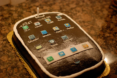 Funny birthday cake chocolate iphone