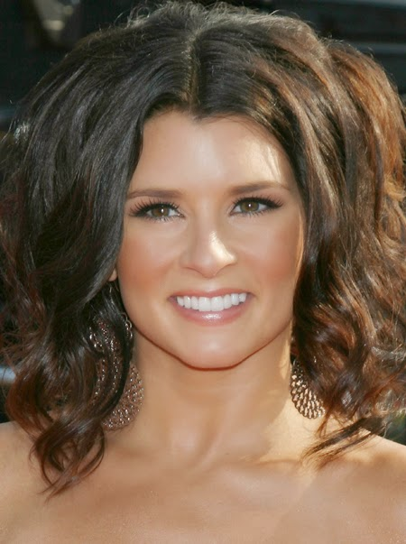 Danica Patrick wearing Jenny Dayco earrings