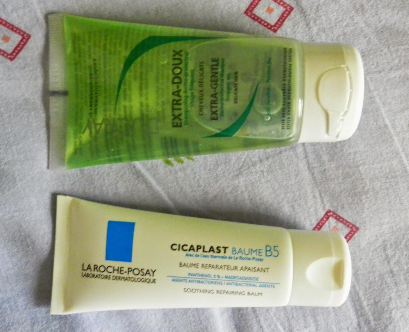 Ducray Extra-Gentle Shampoo, La Roche Posay Cicaplast Baume B5