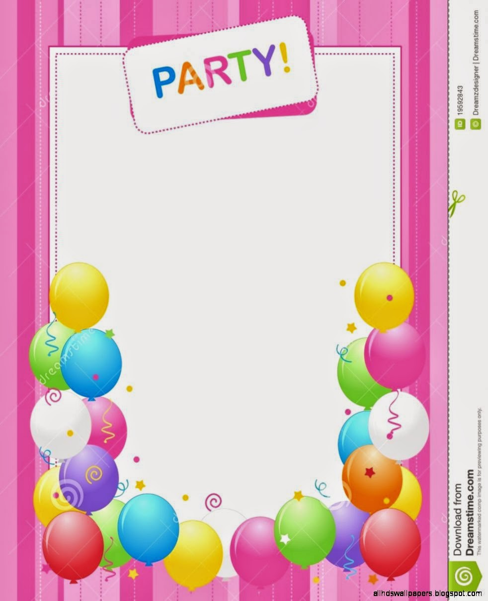 birthday invitation backgrounds – Birthday Invitation Background