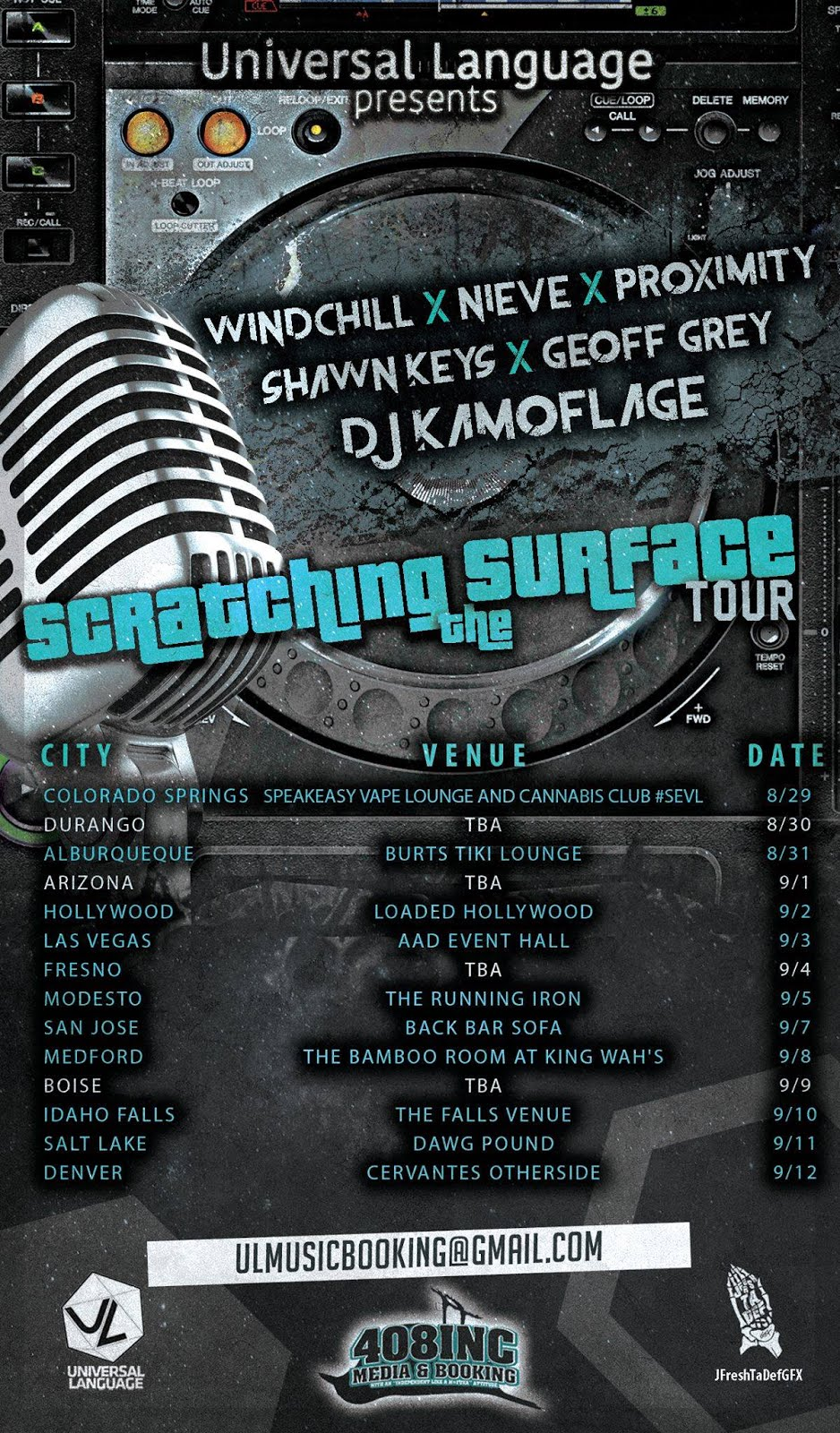 Scratch The Surface Tour