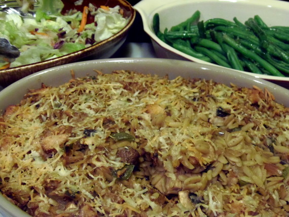Chicken, Mushroom and Orzo Casserole Recipe