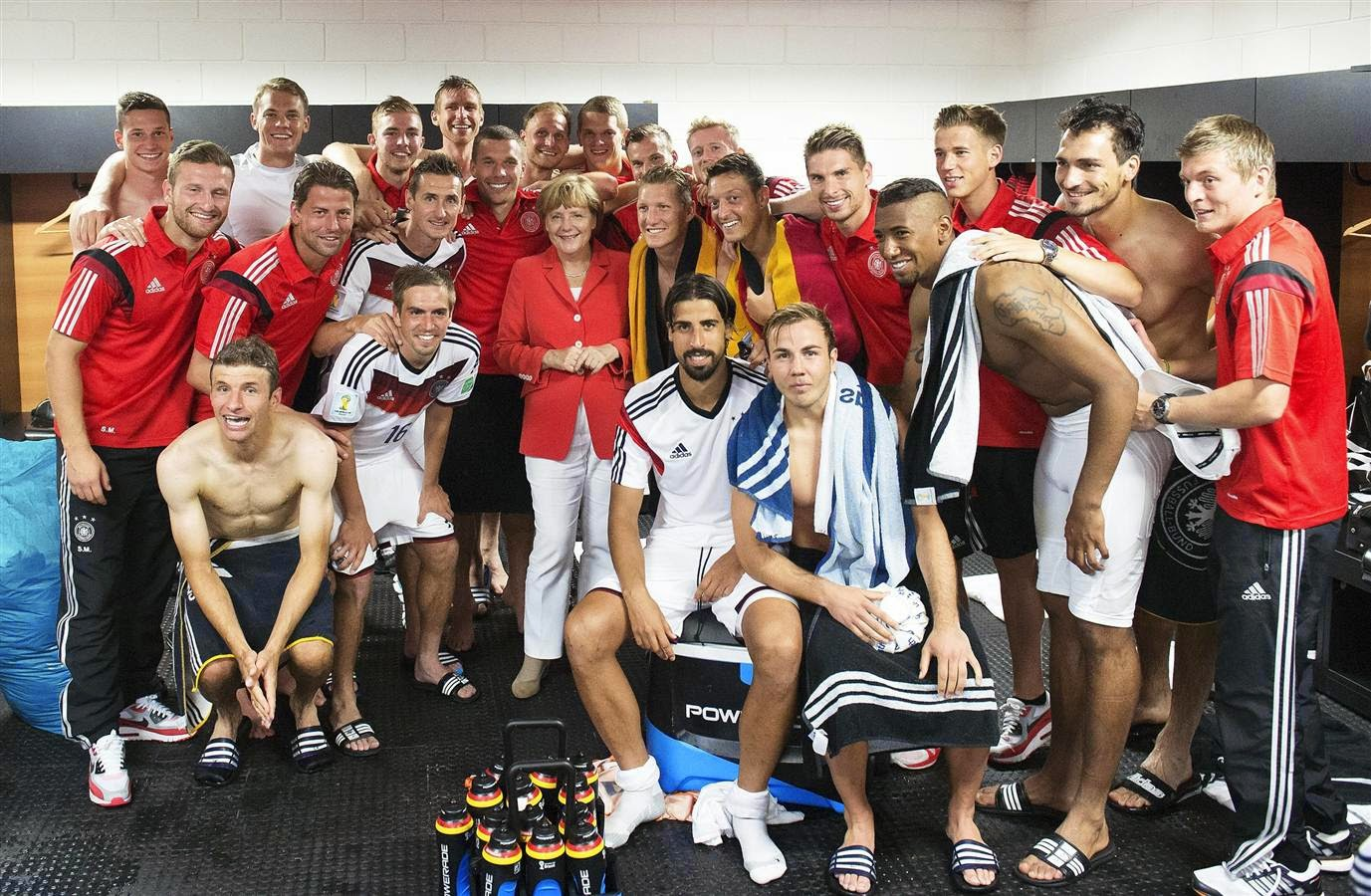 GERMANY FOOTBALL TEAM AT WORLD CUP