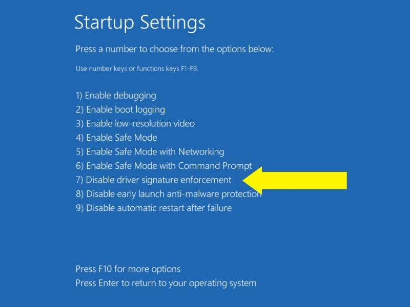 startup setting option