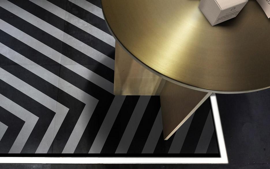 Pavimento bianco nero a strisce per facesss by aur lien for Pavimento bianco e nero