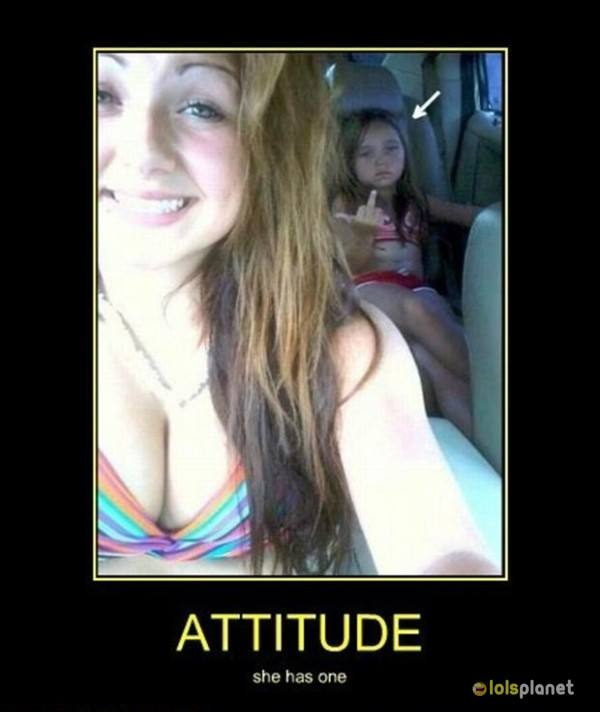 That attitude , little sister photobombing, Funny. Little girl got attitude . most funny photobombing ever .