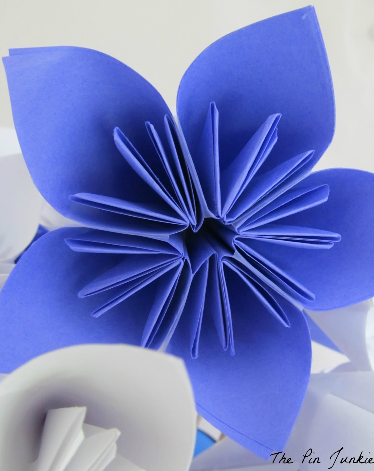 Paper origami flowers the pin junkie mightylinksfo