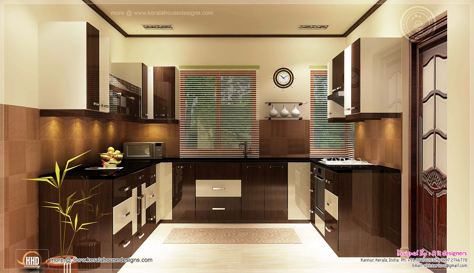 Home interior designs by rit designers kerala home for Kitchen dining hall design