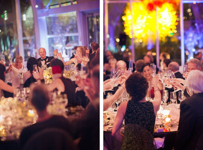 wedding toasts at chihuly garden and glass seattle