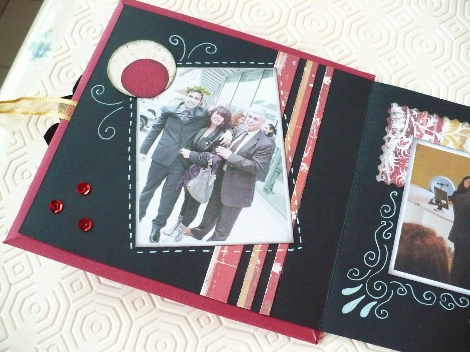 Sweet Bio design: Scrapbooking tutorial: Mini album Laurea