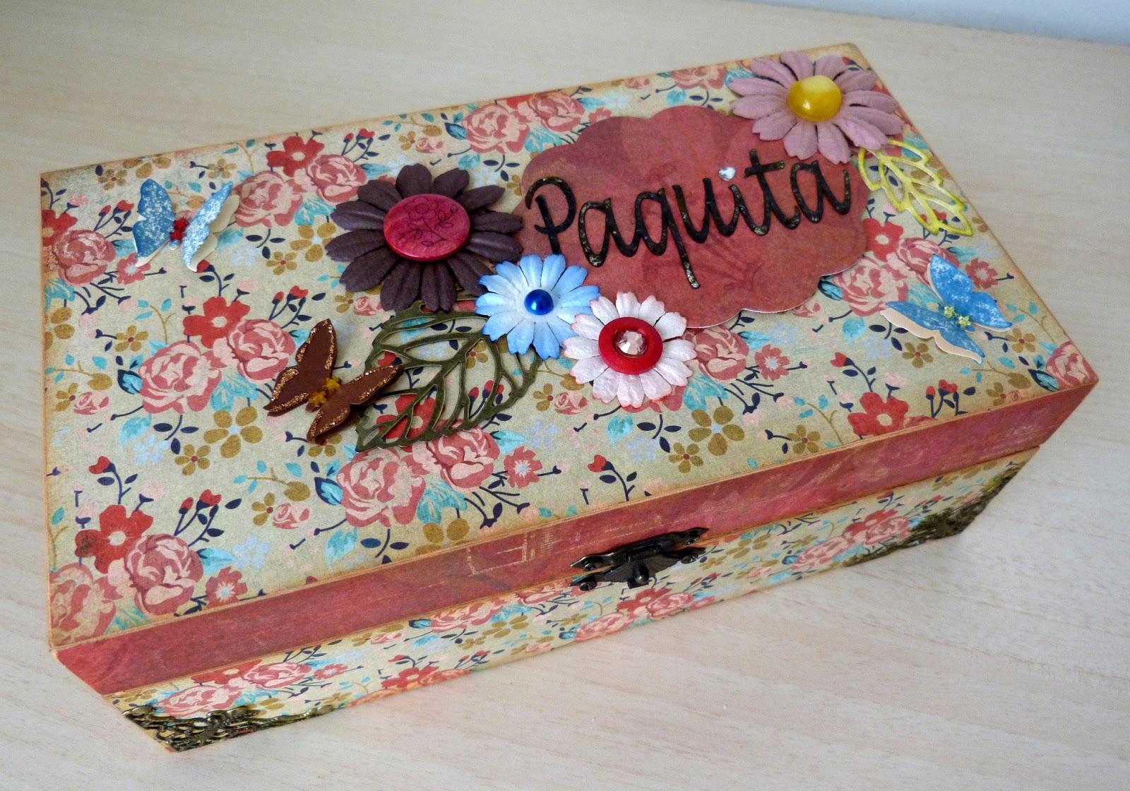 Scrapapers cajas cajas y m s cajas - Decorar cajas de zapatos ...