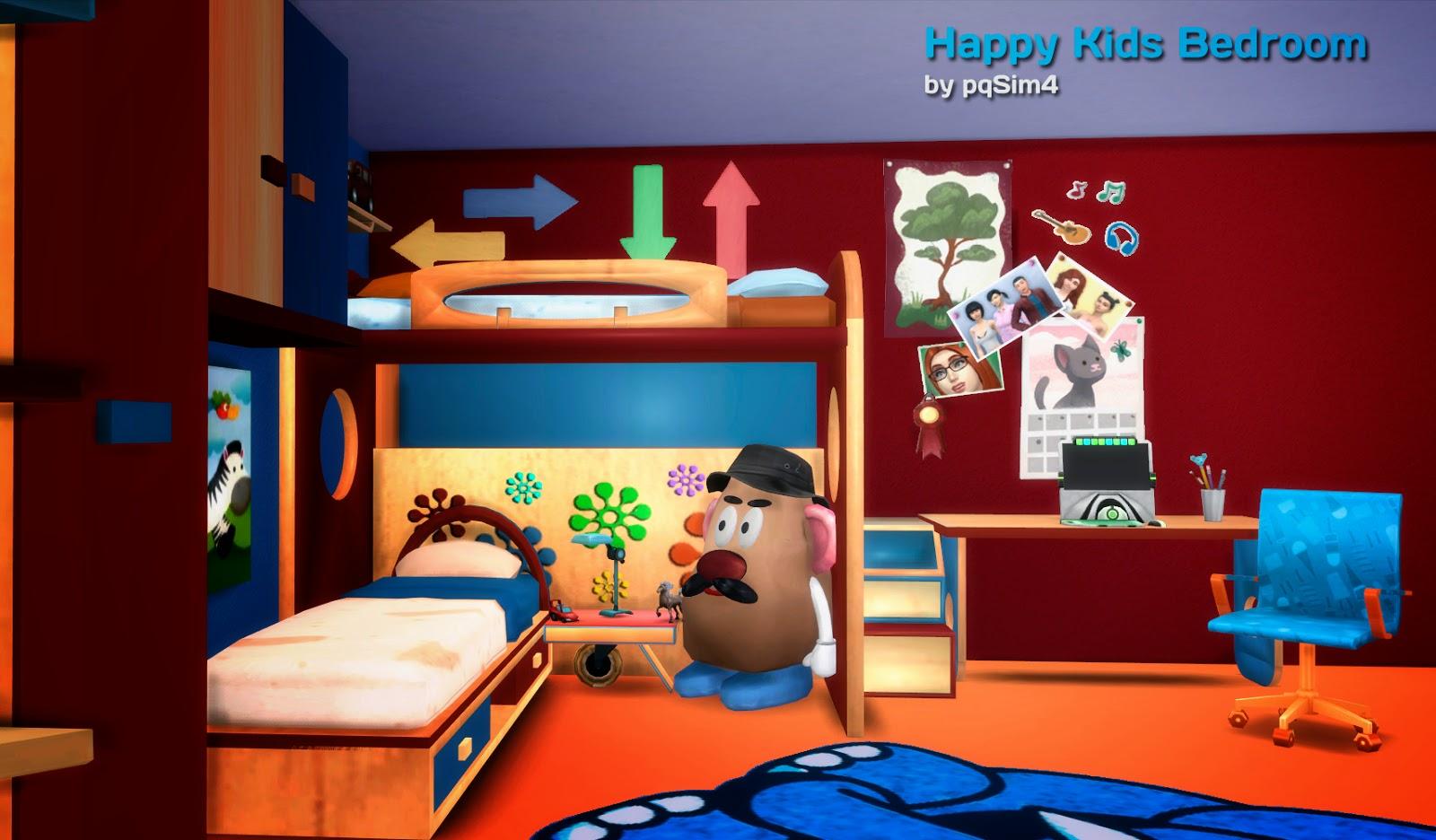 Sims 4 dormitorio happy kids for Juego de dormitorio para ninos