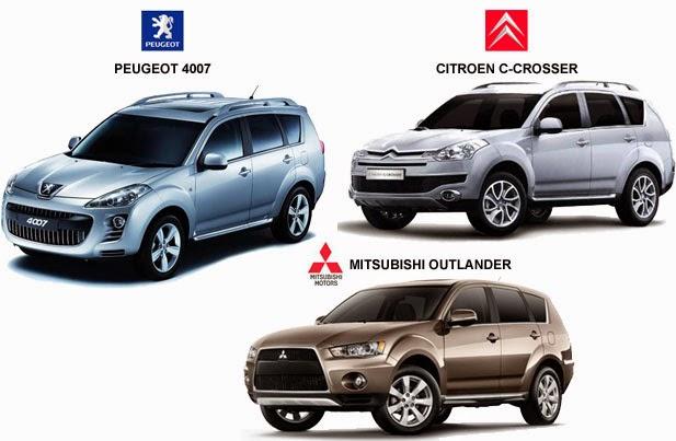 Mitsubishi, Peugeot, Citroen