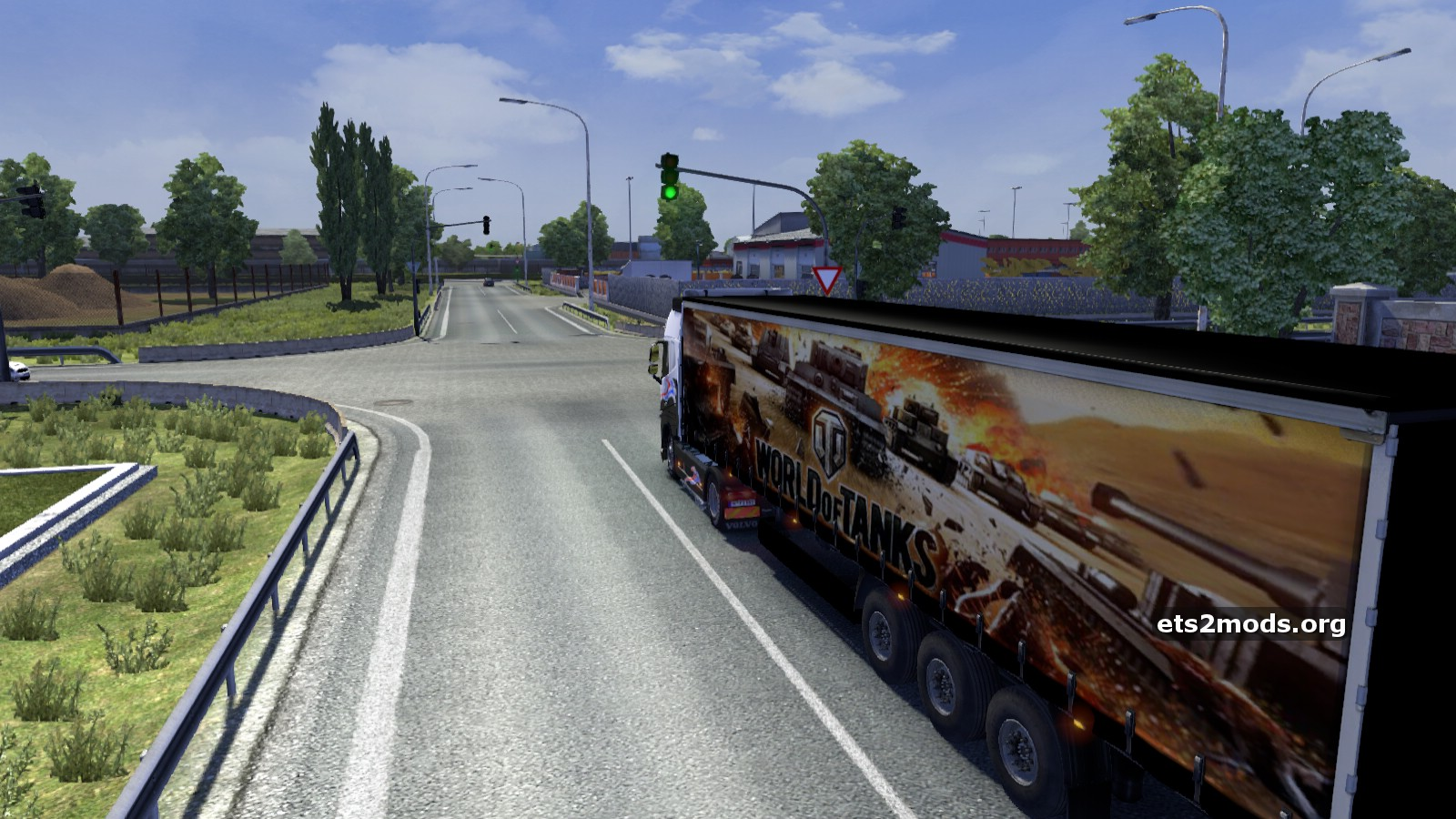 Прицеп World of tanks для Euro Truck Simulator 2.