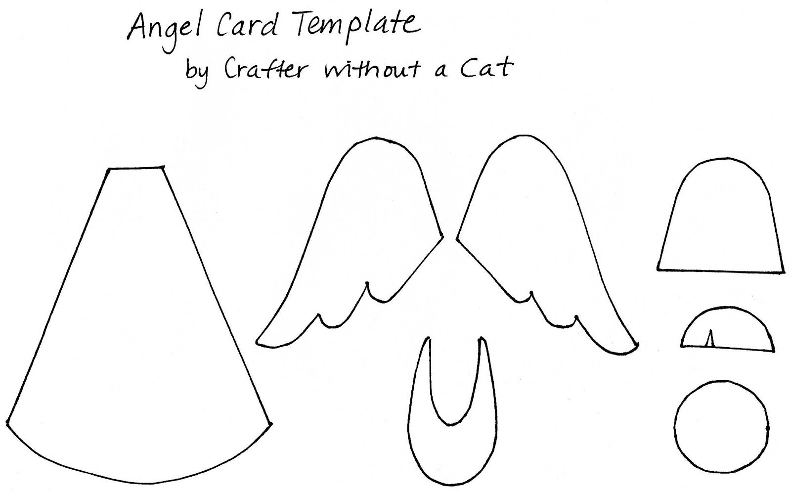 Crafter Without A Cat Angel Card