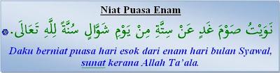 Niat Puasa 6 (Enam) Di Bulan Syawal