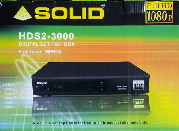 Solid HDS2-3000 DVB-S2 / MPEG-4 Set-Top Box