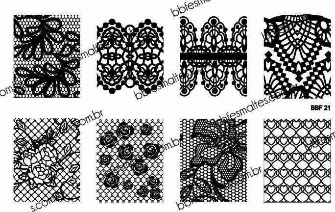 Lacquer Lockdown - Loja BBF, LojaBBF, BBF plates, stamping, nail art, new stamping plates 2014, new nail art plates 2014, new image plates 2014, pueen 2014, cici and sisi, stamping nail art, new plates 2014, diy nail art, at home nail art, cute nail art idea, lace nail art, lace nails, abstract nail art, wedding nails