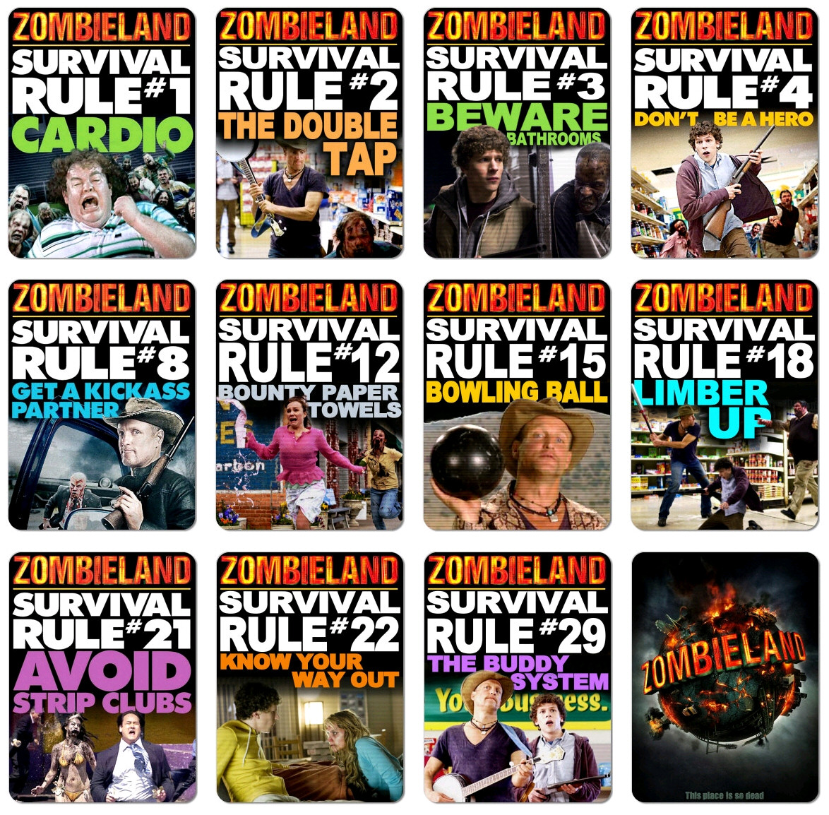 zombieland survival rules