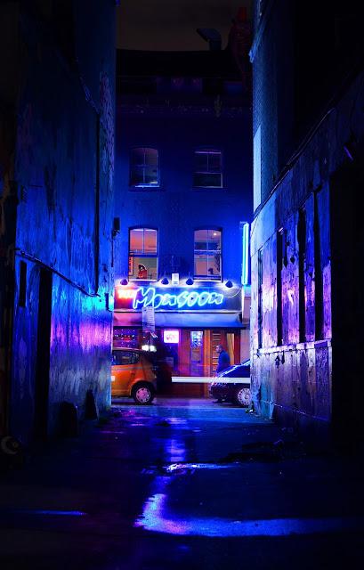east london, brick lane, urban, blue, alley, ghost,