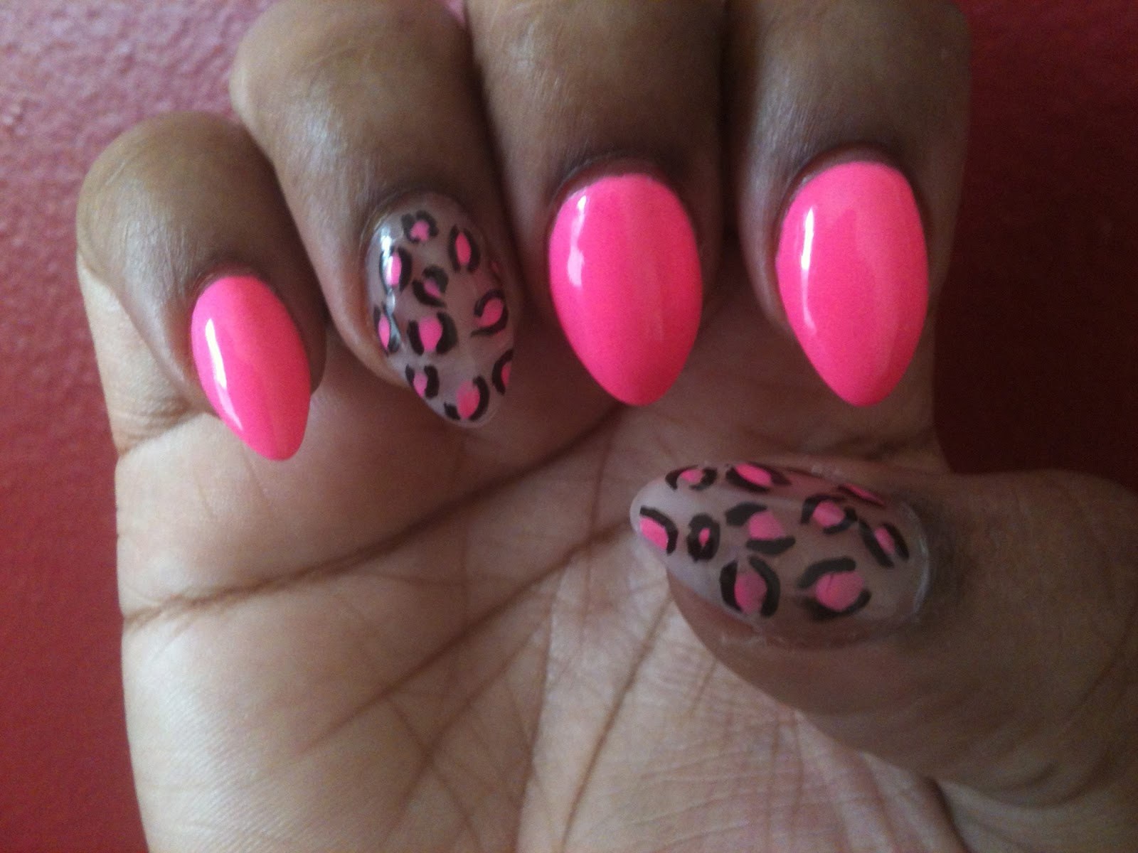 Stiletto nail cheetah print designs
