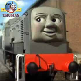 It's my day off Thomas tank whispered you must be Dennis the diesel engine huffing and puffing along
