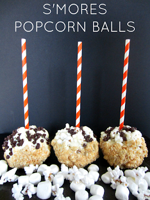 S'mores Popcorn Balls | Club Narwhal