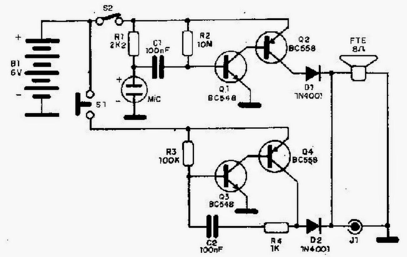 Circuito Eletronica : EletrÔnica geral: intercomunicador simples