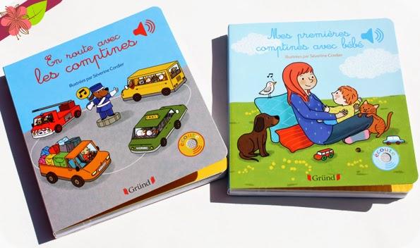 En route avec les comptines et Mes premières comptines avec bébé - éditions Gründ