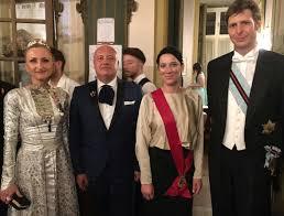 SAR Anna Bagrationi Gruzinsky di Georgia e SAR Leka Zogu II d'Albania