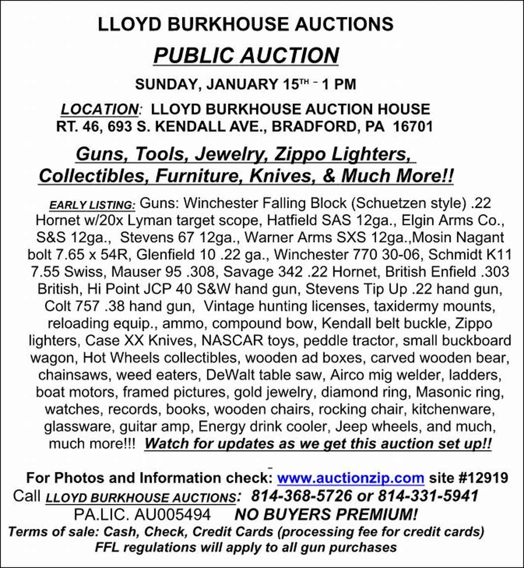 Burkhouse Auction