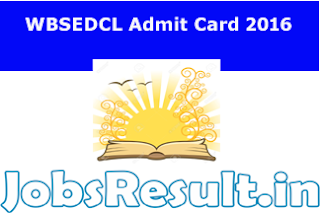 WBSEDCL Admit Card 2016