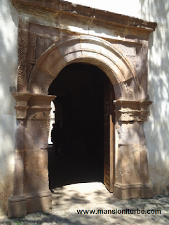 One of the doors inside the Ex Convent of Santa Ana in Tzintzuntzan