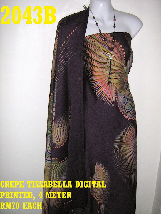 CTD 2043B: CREPE TISSABELLA DIGITAL PRINTED, EXCLUSIVE DESIGN, 4 METER
