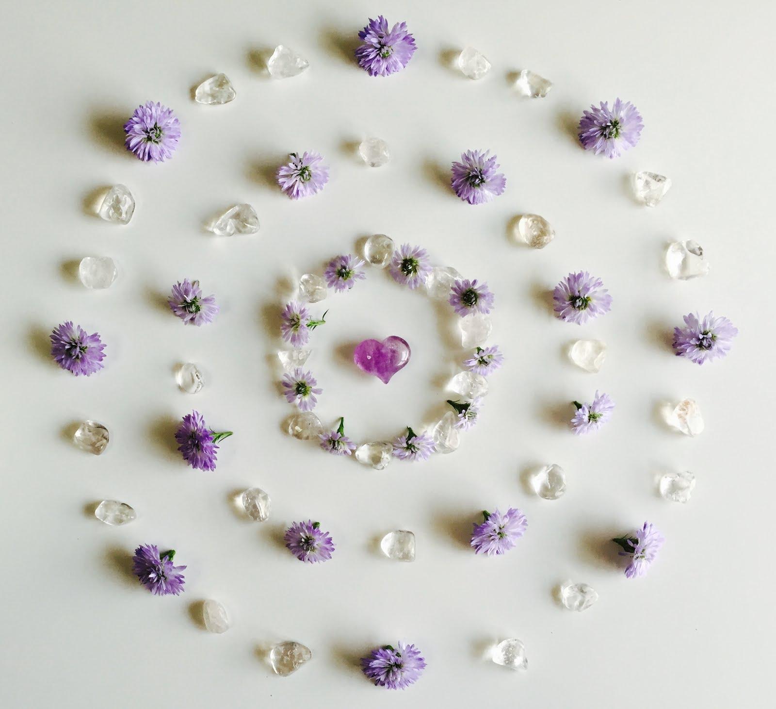 ☆紫のフラワーグリッド