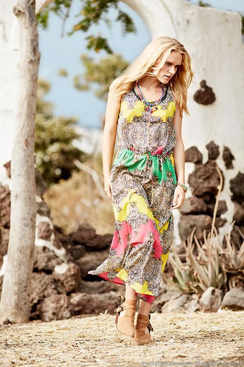 Vestidos de verano moda en ropa de mujer India Style 2015.