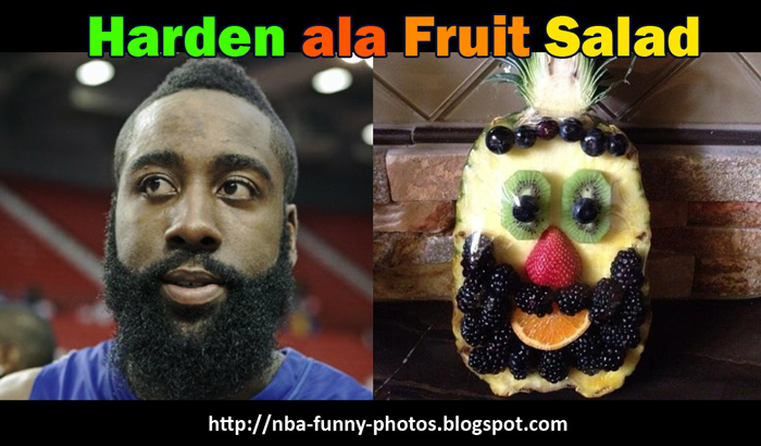 Who want s harden fruit salad it must be taste like beard
