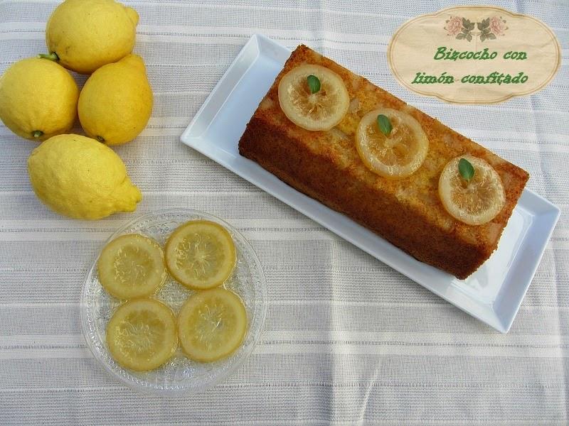 Bizcocho Con Limón Confitado