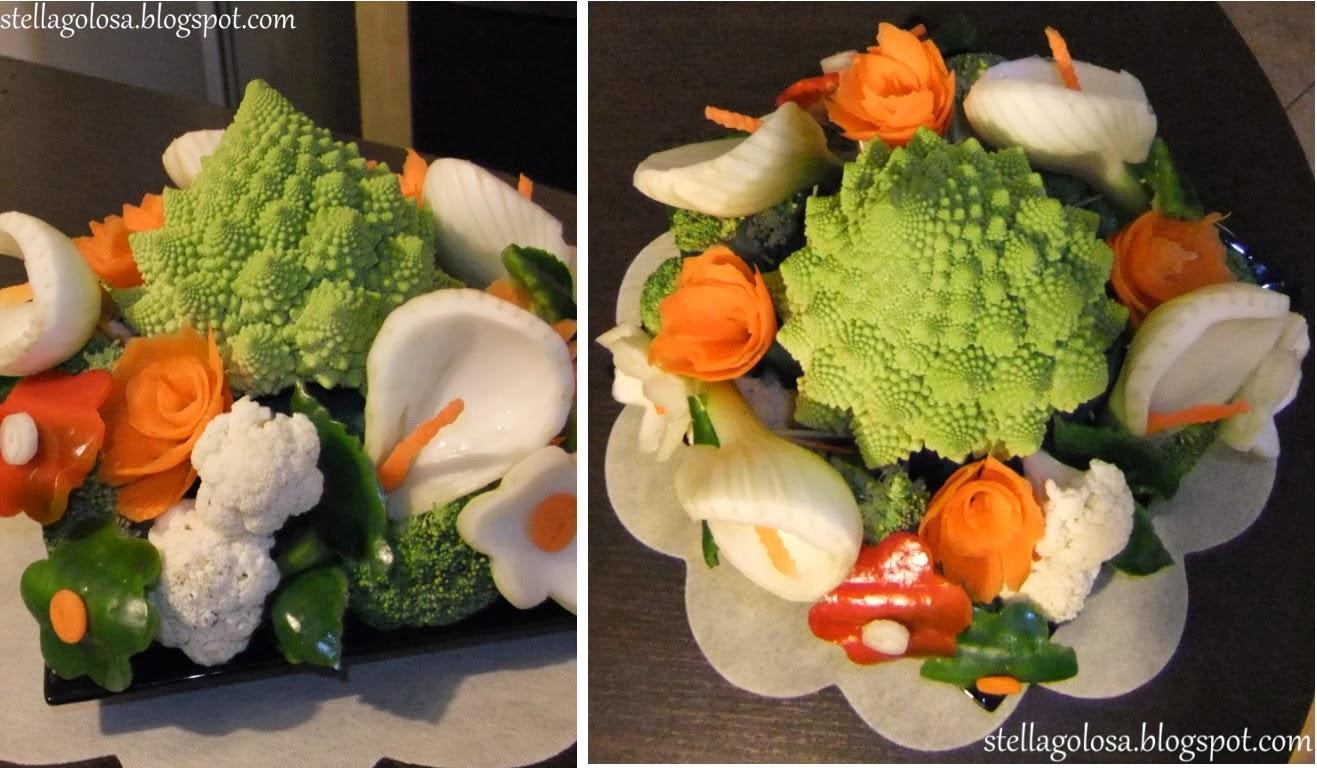 Stella golosa decorare con le verdure intagliate le for Decorazioni con verdure e ortaggi