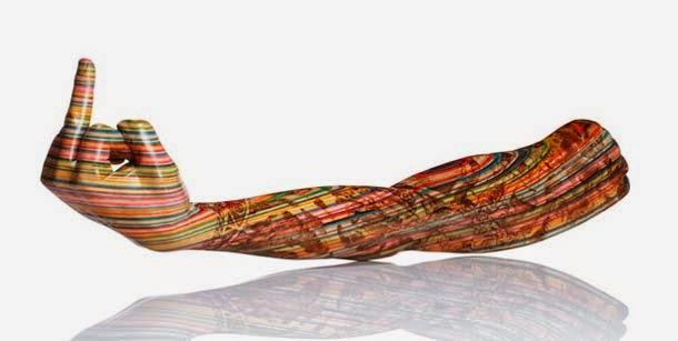 esculturas con patinetas recicladas