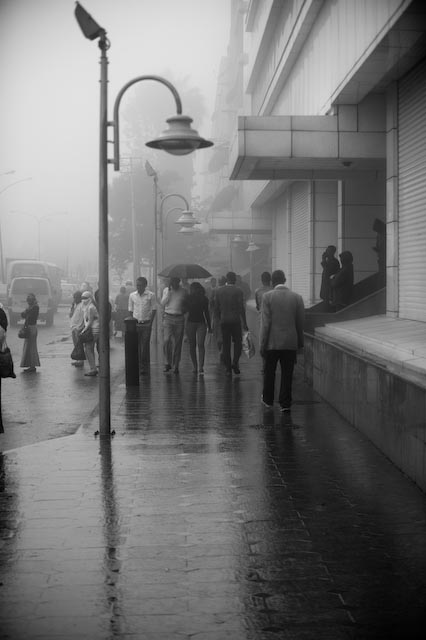 Ethiopian photographer Michael Tsegaye's street photography of rainy season in Addis Ababa