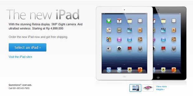 Daftar Harga Resmi New iPad di Indonesia