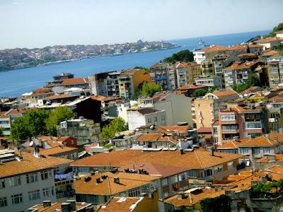 Houses along Bosphorus Strait