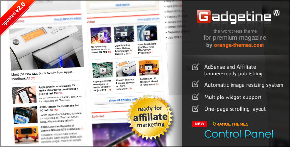 Gadgetine v2.0.4 - Wordpress Theme for Premium Magazine