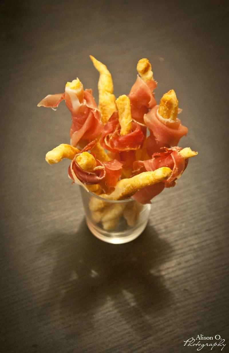 Recette Gressins au parmesan et jambon de parme