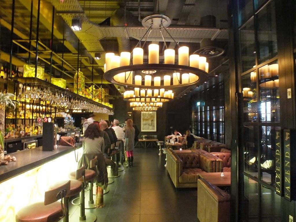 fazenda restaurant manchester reception bar area