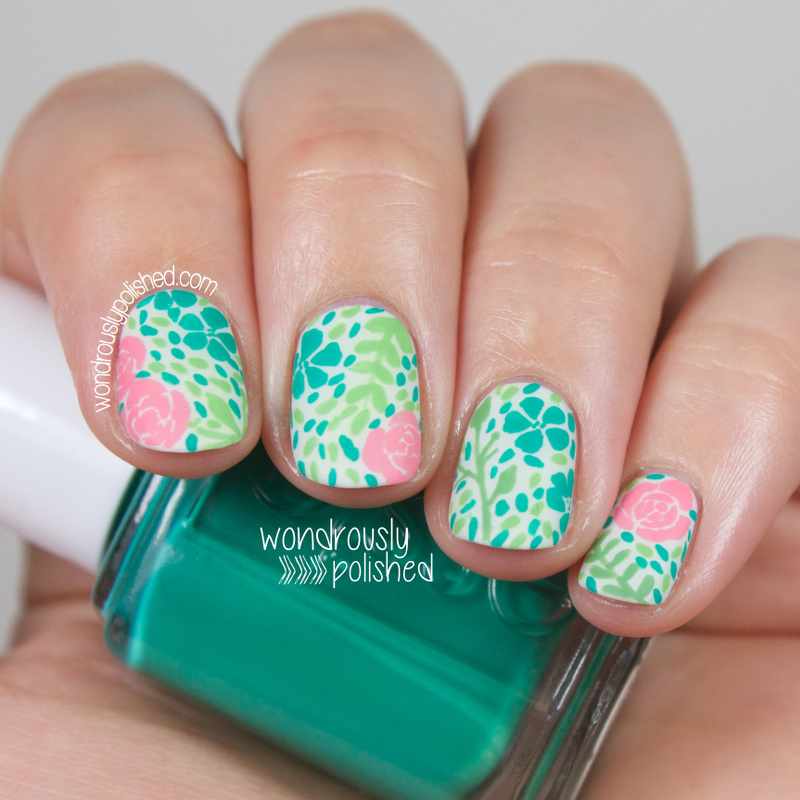 Vintage Nails: Wondrously Polished: Vintage Floral