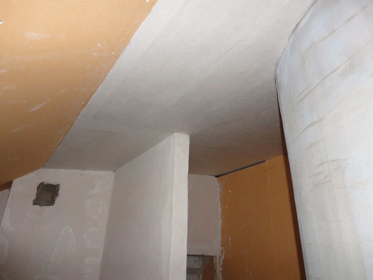 Päronprojektet: Badrum tak 3 : glasfiberväv : Inredning