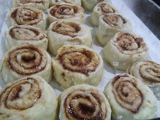 Cinnamon Rolls after rising